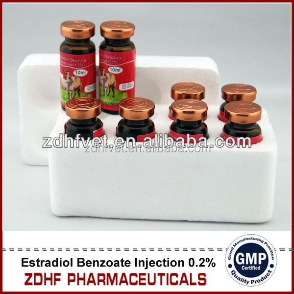 horse cattle Reproductive Drugs female sex increase medicine Estradiol Benzoate injection 0.2%