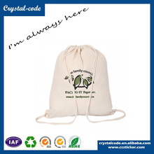 Favorable Price Wholesale Cotton Fabric Drawstring Cloth Carrying Bag