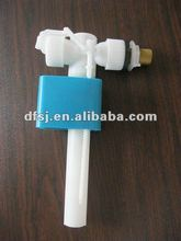 Toilet cistern side inlet fill valve