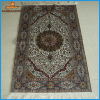 various size handmade silk persian carpet house for decoration