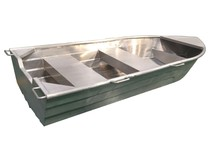 Small cheap aluminum boat with paddle