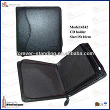 WinePackages PU Leather cd sleeve,cd box,cd wallet