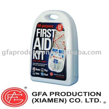 Genuine All Purpose First Aid Kit 52 pcs Hard Case