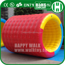 HI squishy floating inflatable water roller,inflation water games crazy water games