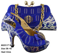 MS3117 Royalblue high heel onlinewedding sandals online rainbow rhinestone dress sandals and matching clutch bags