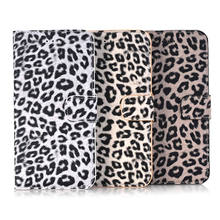 2017 High Quality Fashion Leopard pattern Leather Wallet Case for iphone 7 Plus