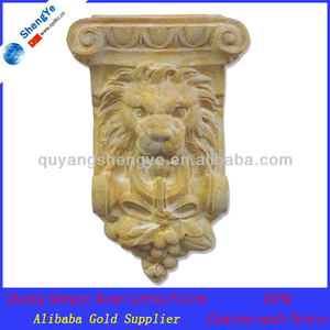 garden waterfall lion head wall fountain