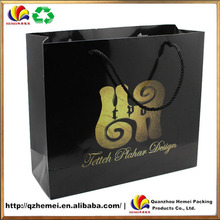 2015 new design paper shopping bag with 4C printing
