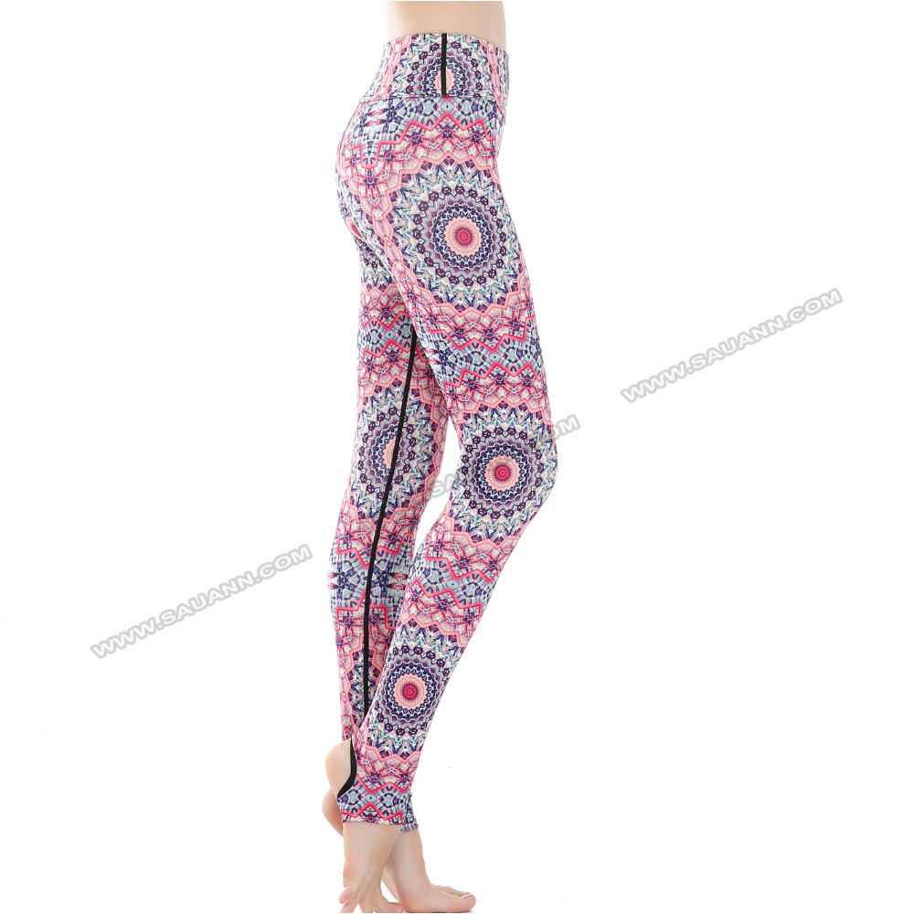 Direct factory kaleidoscope sublimation foot gym clothing pants tracksuit factory