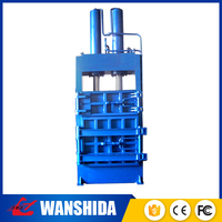 Mobile hydraulic manual vertical scrap tire rubbish baler light industry machinery