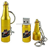 Custom metal beer bottle 3.0 usb flash drive