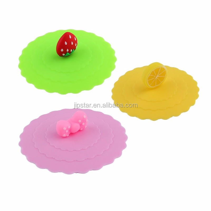 Food Grade Airtight Reusable Flexible Suction custom universal Silicone Lid