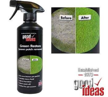 Green Lawn Restore Lawn Enhancer with Grass Feed. No more brown patches.
