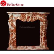Outdoor marble stone fireplace surround