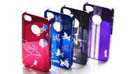 Colorful electroplated Protector for Iphone 4 PC case