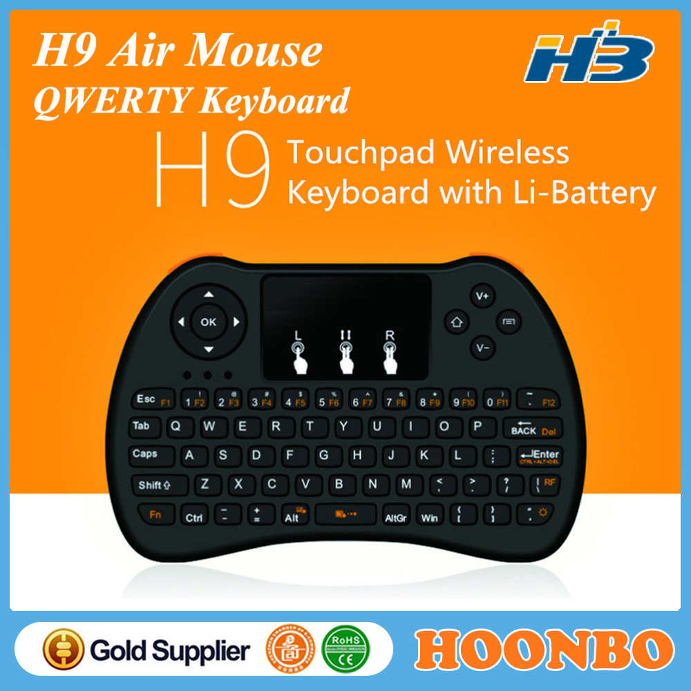 Wireless Air Fly Mouse Keyboard H9 Usb Mini Keyboard With Mouse Hot Sale