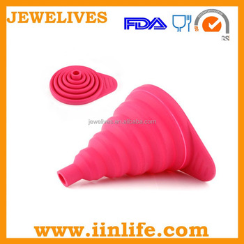 Very convenient and practical foldable silicone funnel