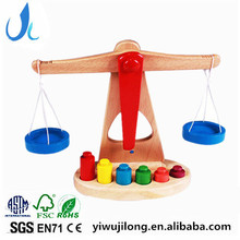 Kids Wooden Balance Scales Toy