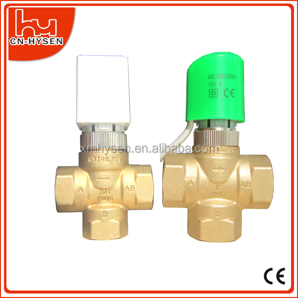 electric 3 way control valve 3/4""