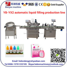YB-Y2 Automatic Liquid Bottle Filling Machine For Eyedrop Bottle Filling Sealing Capping machine Capacity 40 Bottles Per Minute.