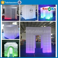 Big inflatable spray booth shopping mall inflatable photo booth enclosure tent sales