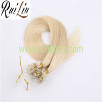 Micro ring Hair Extension Grade aaa Remy Hair Silky Straight Wave Human Hair Wholesale