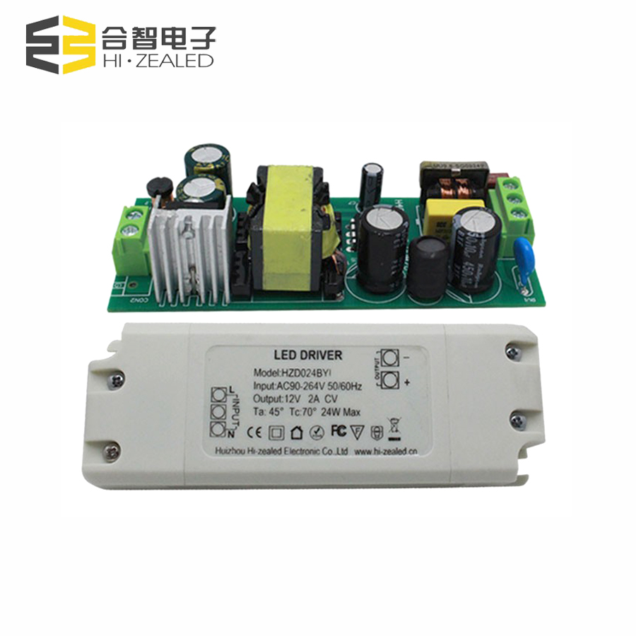 High efficiency flicker free constant voltage 12v 2a led driver
