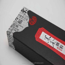 Special black tea gift packaging box with satin insert