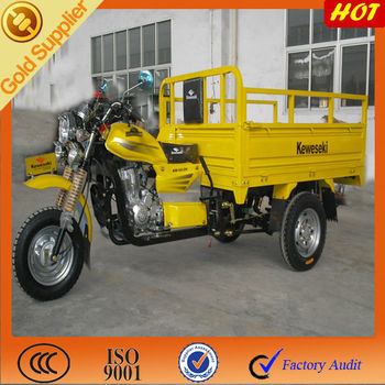 China three wheel motorcycle with open cargo