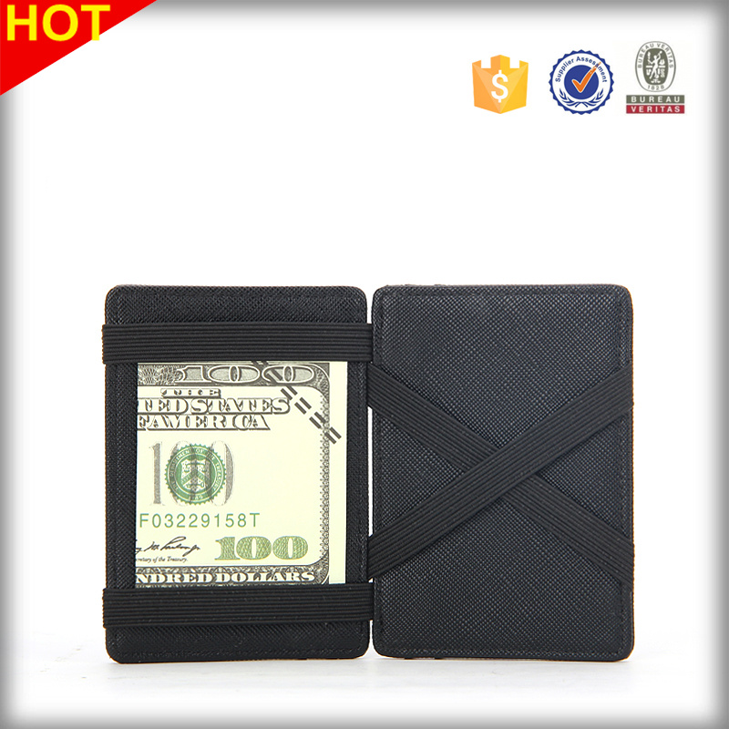 Mens Leather Wallet men slim RFID Credit ID Card Holder Magic Wallet