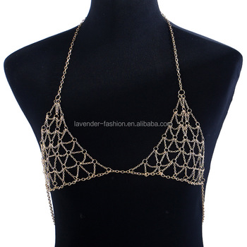 Beach Vacation leisure Nightclub sex bra body chain jewelry wholesale