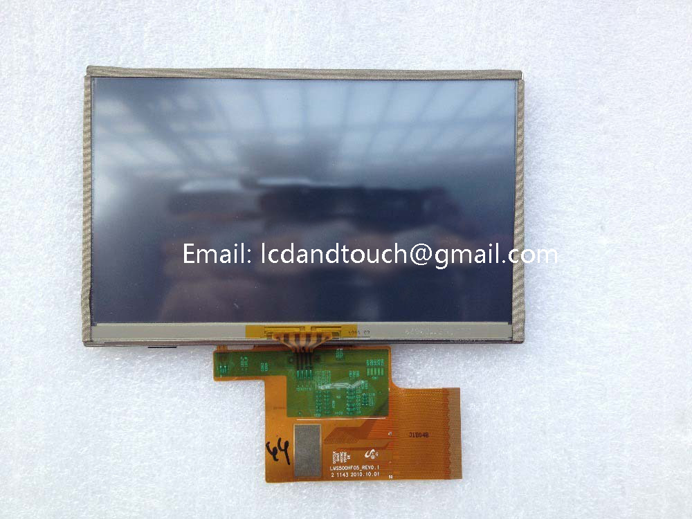 "Original 5"" inch LMS500HF05-007 For TomTom XXL 535 550 GPS LCD display screen with touch screen digitizer panel"