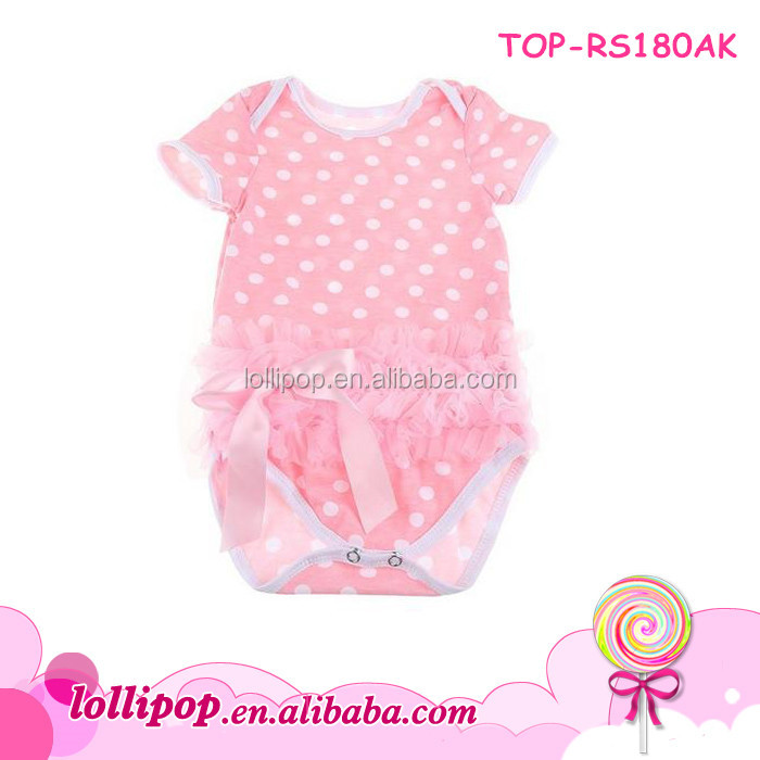 100% organic cotton material rompers product children pink polka dots chinese dave and bella clothing