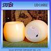 round shape flickering led candles/led flickering candle/flameless flicker candles