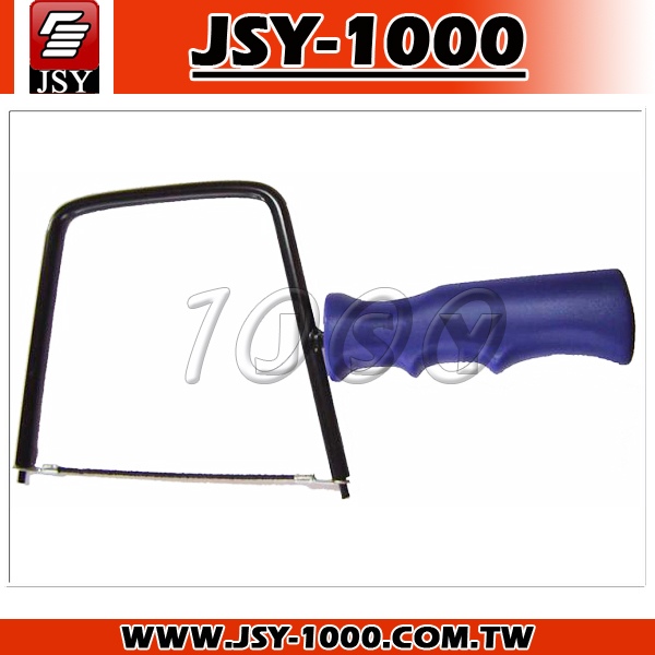 6 Inch Harden Steel Soft Plastic Handle Blue Carbide Blade Coping Saw