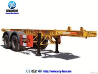 1 x 40ft container loading flat bed semitrailer