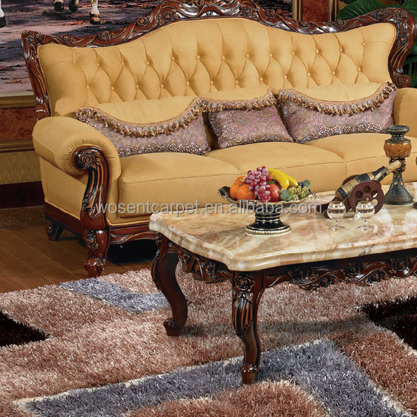 Luxury Pattern Household Cut Pile 100% Polyester Shaggy Carpets and Rugs