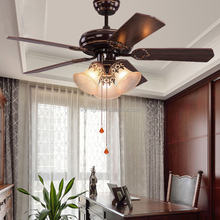 Indoor Fancy Blade Modern European Clip Fan Ceiling Lamp Iron Glass Pendant Lamps Light Remote Control
