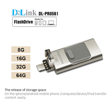 Wholesale Factory Price Real Capacity OTG iFlash Drive, Mobile phone custom OTG Usb Flash For iPhone 5s/6s