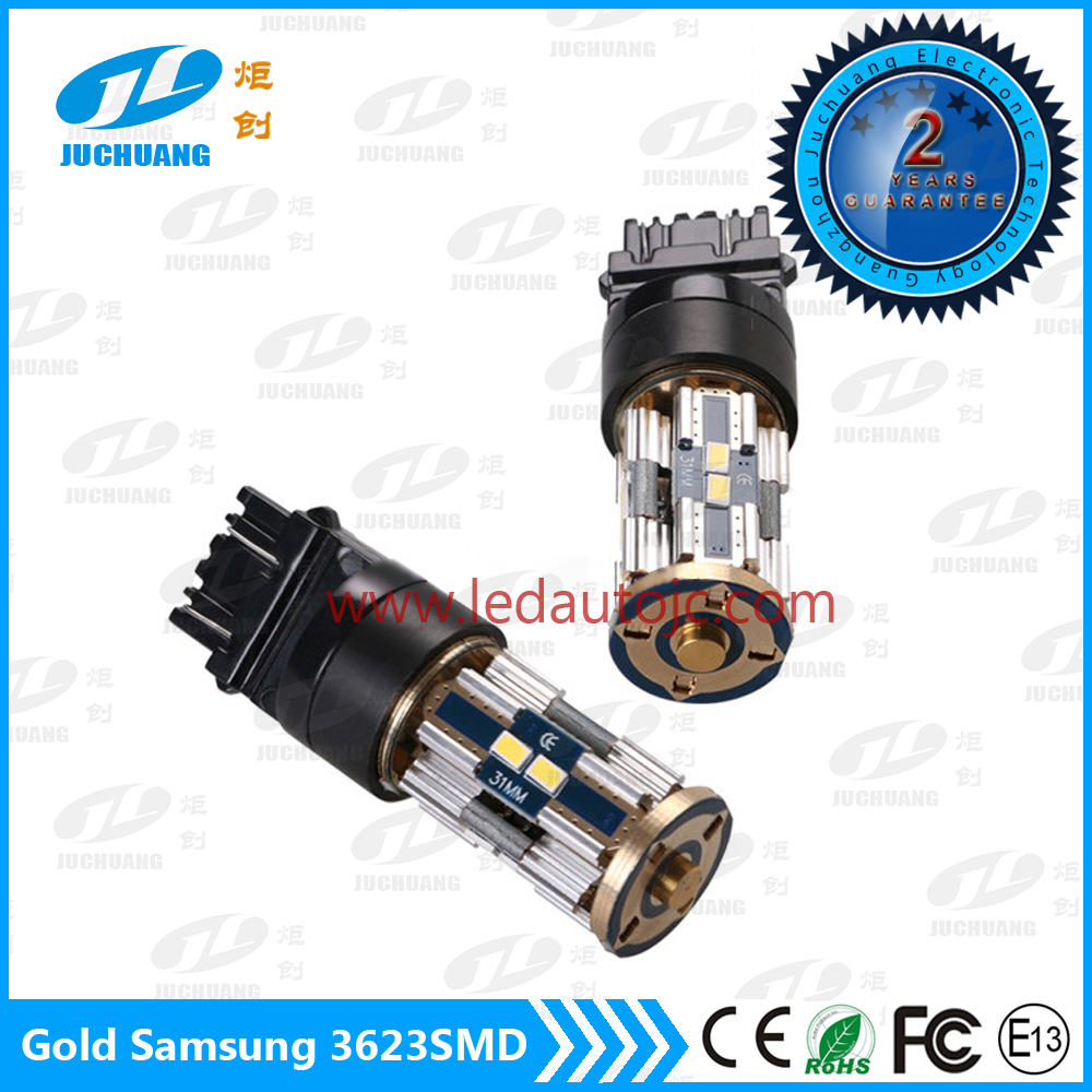 Gold Series T20 3157 Samsung 8*3623SMD Canbus Tail Brake LED Light LED reversing lights