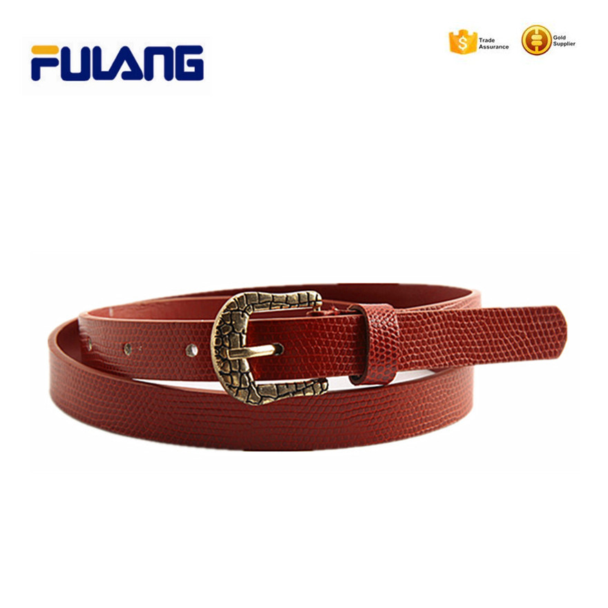 ladies leisure woman belt with ball pattern in surface FUD018