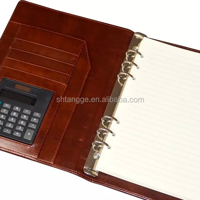 Hot sale waterproof calculator with notepad / leather menu book