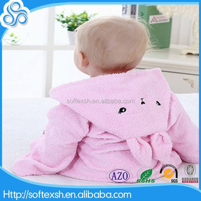 2017 hot sale super soft cute embroidery hood baby towel