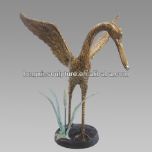 Garden Decor Bronze Bird Flapping Wings Statue--Bronze Animal Sculpture
