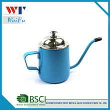 200ml novelty stainless steel painting milk jug with lid
