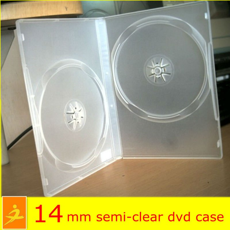 14mm double dvd case dvd vcd cd storage cases