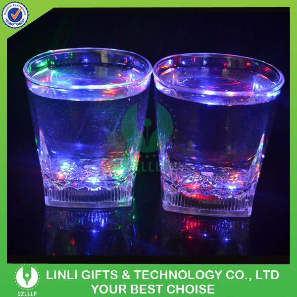 Supply Barware Multicolor Led Whisky Glass,Flashing Whisky Glass,Plastic Whisky Glass