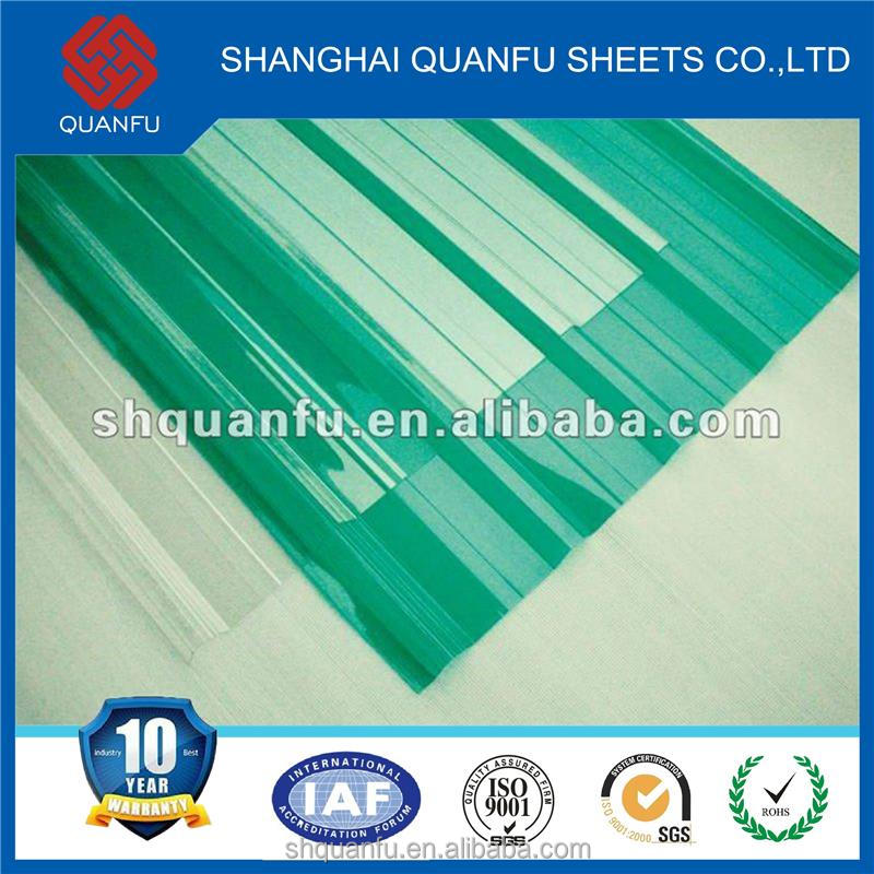 greenhouse polycarbonate hollow sheet/pc sheet/sun sheet stone roofing architectural roof with 10-year warranty