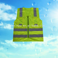 V27 High visibility pink safety vests with zipper