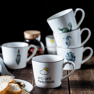 9.5X8cm 450ml ceramic novelty design promotion gift usage creative mugs